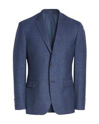 John W. Nordstrom Plaid Wool Blend Sport Coat