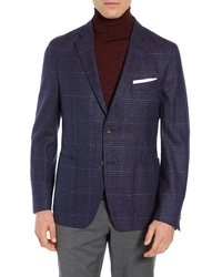 FLYNT Regular Fit Plaid Super 100s Wool Sport Coat