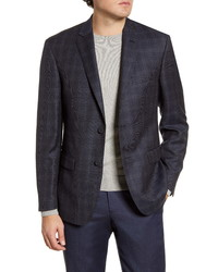 John W. Nordstrom Traditional Fit Plaid Wool Sport Coat