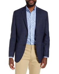 Nordstrom Men's Shop Trim Fit Plaid Wool Blazer