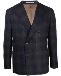 Brunello Cucinelli Double Breasted Check Blazer