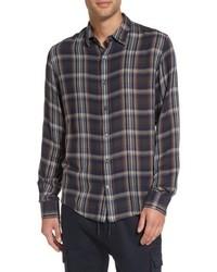 Regular fit classic plaid sport shirt medium 5254002