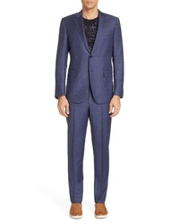Ermenegildo Zegna Fit Plaid Wool Suit