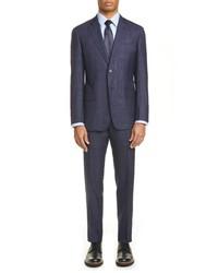Emporio Armani G Fit Plaid Wool Blend Suit