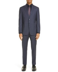 Emporio Armani G Fit Plaid Wool Suit