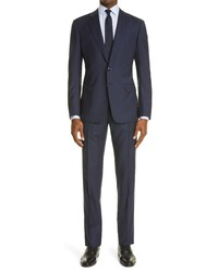Giorgio Armani Glen Plaid Virgin Wool Suit