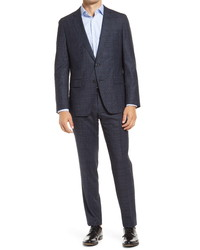 BOSS Herrelgrace Classic Fit Stretch Check Wool Suit
