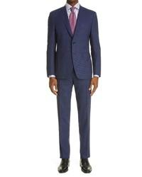 Canali Impeccabile Classic Fit Plaid Wool Suit