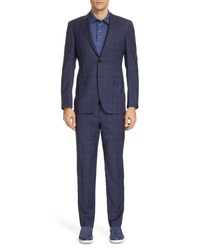 Ermenegildo Zegna Milano Classic Fit Plaid Wool Suit