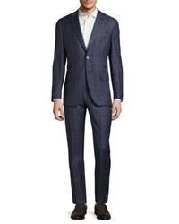 Isaia Regular Fit Plaid Suit