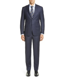 Canali Sienna Soft Plaid Wool Suit