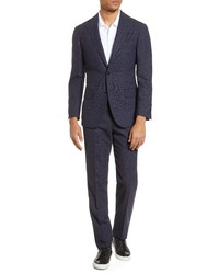 Ring Jacket Slim Fit Plaid Wool Suit