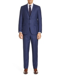 Ermenegildo Zegna Trofeo Classic Fit Plaid Wool Blend Suit
