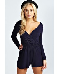 Boohoo Aveline Wrap Over Playsuit