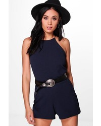 Boohoo Kellie High Neck Playsuit