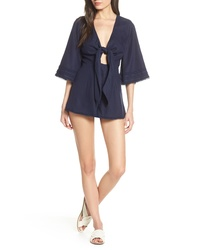 Finders Keepers Limoncello Tie Front Romper