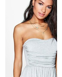 Boohoo Molly Ruched Bandeau Playsuit