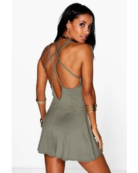 Boohoo Nora Strappy Back Swing Playsuit