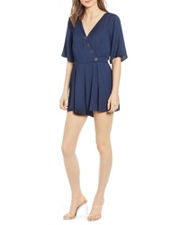 Row A Slant Button Romper