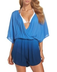 Green Dragon Take A Dip Eliza Crinkle Cover Up Romper