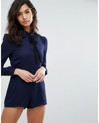 Fashion Union Tie Neck Romper