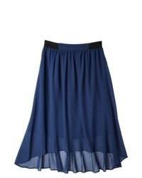 Second Skin, LLC Merona Chiffon Feminine Skirt Waterloo Blue Xs