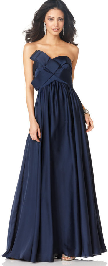 JS Collections Strapless Pleated Gown | Where to buy & how to wear