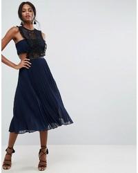 Lace pinafore pleated midi dress medium 3764656