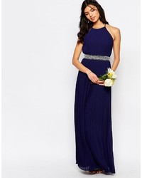 d0b5fc283aa ... TFNC Wedding High Neck Pleated Maxi Dress