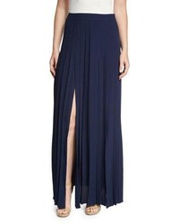 Michael Kors Michl Kors Collection Pleated Front Slit Maxi Skirt Maritime