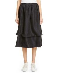Comme des Garcons Double Layer Jacquard Skirt
