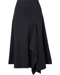 Rosetta Getty Draped Stretch Jersey Midi Skirt