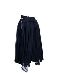 Comme Des Garçons Vintage Layered Gathered Midi Skirt