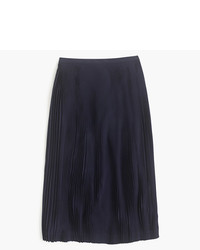 J.Crew Micro Pleated Midi Skirt