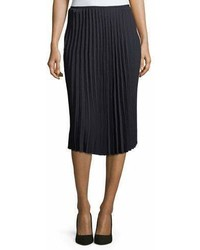Pleated crepe midi skirt medium 6990402