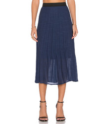 WAYF Pleated Midi Skirt