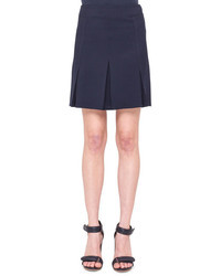 Akris Punto Inverted Pleat Twill Skirt