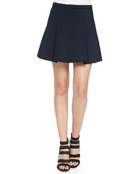 J Brand Ready To Wear Rhodes Box Pleated Scuba Mini Skirt