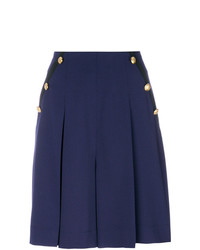 Lanvin Pleated Nautical Shorts