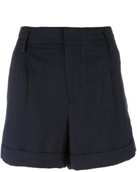 Vince Wide Legged Pleated Shorts