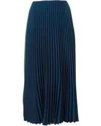Cédric Charlier Cedric Charlier Pleated Midi Skirt