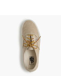 687adcf30cd ... Vans For Jcrew Washed Canvas Authentic Sneakers