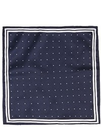 Topman Border Dot Pocket Square