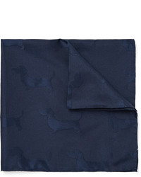 Thom Browne Hector Silk And Cotton Blend Jacquard Pocket Square