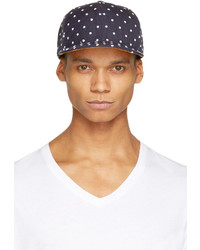 Navy Polka Dot Baseball Cap
