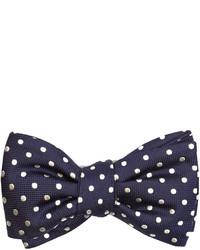 Alexander McQueen Polka Dot Jacquard Silk Bow Tie