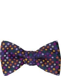 Duchamp Polka Dot Silk Jacquard Bow Tie
