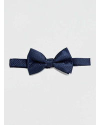 Topman Blue Dot Print Bow Tie