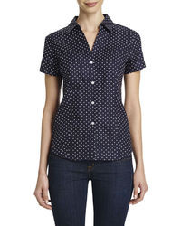 84b0724f Lauren Ralph Lauren Polka Dot Shirt Out of stock · Jones New York Non Iron  Easy Care Printed Short Sleeve Shirt