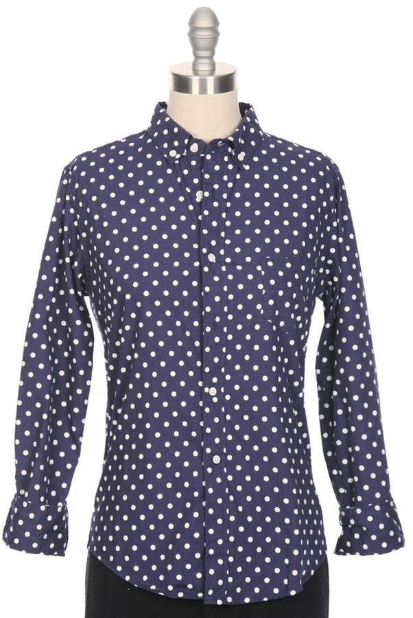e11fcffa Gitman Brothers Sisters Poplin Polka Dot Button Down Shirt, $180 ...